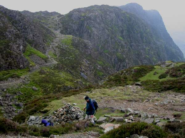 The route ahead to Haystacks