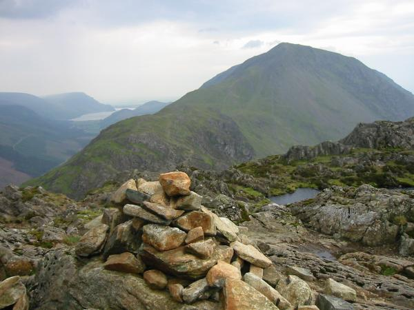 Ennerdale and High Crag from the south end of Haystack's summit ridge