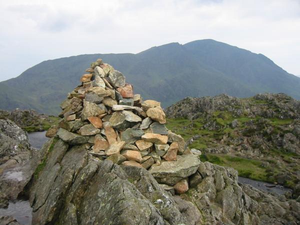 Pillar from Haystacks summit cairn