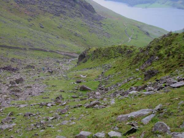 The path from Scarth Gap back down to Buttermere
