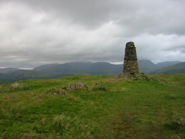 Loughrigg, the Fairfield Horseshoe, Red Screes and Caudale Moor from Latterbarrow summit