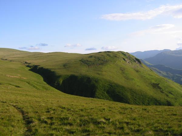 Looking across the top of Swarthbeck Gill to Bonscale Pike