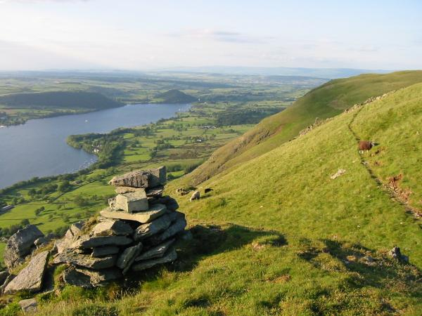 The northern part of Ullswater from the remains of AW's higher pillar
