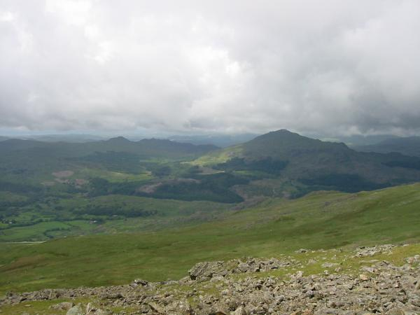 Green Crag and Harter Fell, Eskdale from Buck Pike