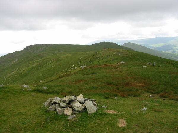 White Maiden, White Pike and Caw from Walna Scar summit