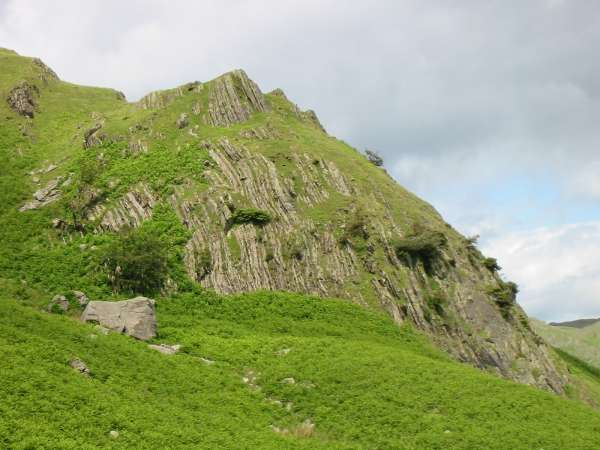 Folded rocks, Timley Knott, Coniston Old Man