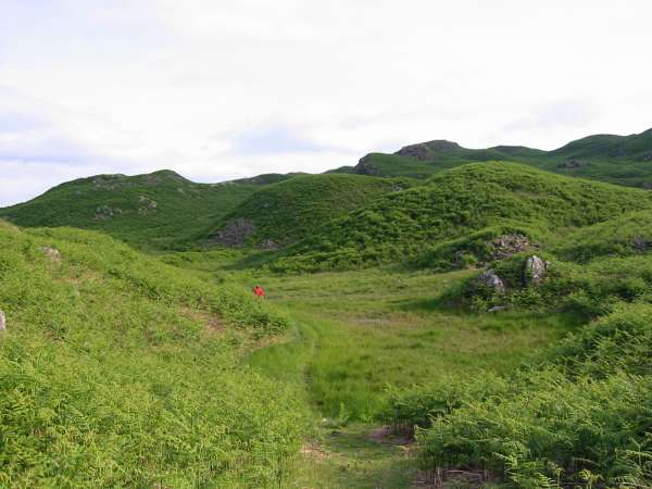 The confusing terrain on Loughrigg