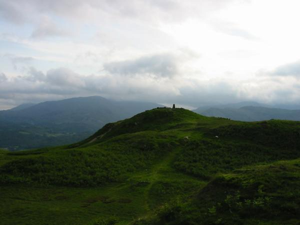 Wetherlam, the only one of the Coniston Fells not in cloud and Loughrigg summit