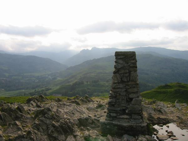 The Langdale Pikes from Loughrigg Fell's trig point
