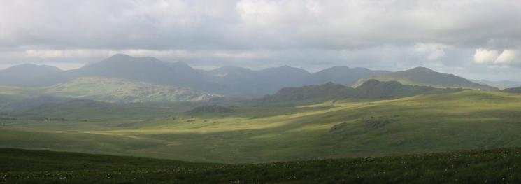 The Eskdale skyline from higher up