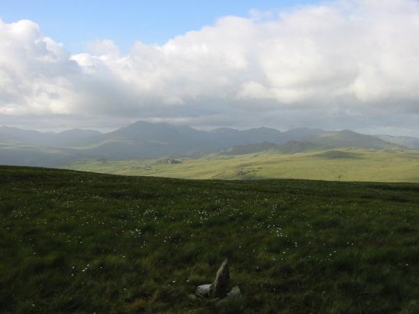 The Eskdale skyline from Hesk Fell's summit