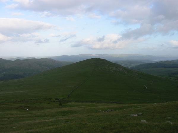 Looking south to The Pike from Hesk Fell