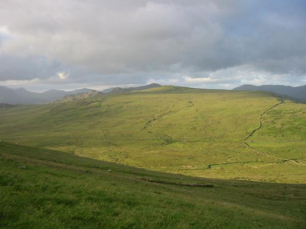 Great Worm Crag from the contour round Hesk Fell