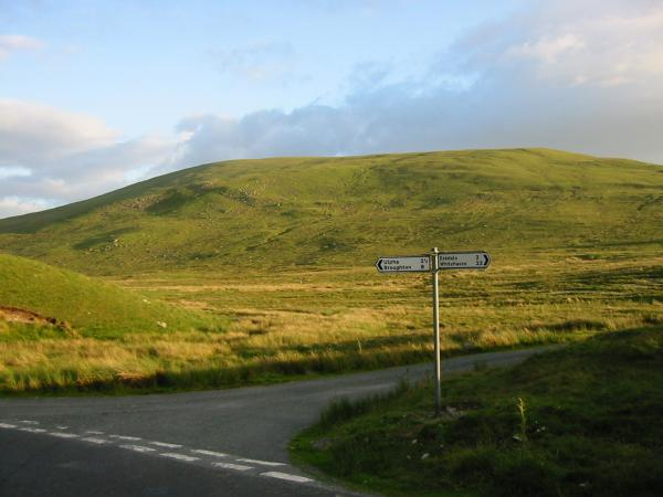 Hesk Pike from the Birker Fell road, Woodend Farm junction