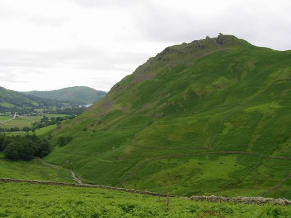 Helm Crag from low down Steel Fell's southeast ridge