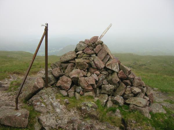 Steel Fell's summit cairn