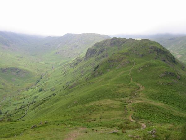 Looking back at Far Easedale and Gibson Knott