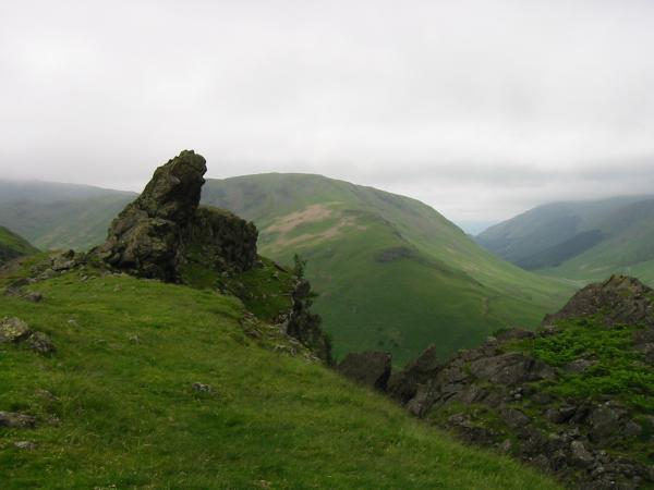The Howitzer, Helm Crag summit and Steel Fell's southeast ridge