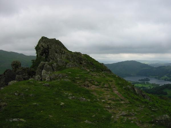 Lion and The Lamb, Helm Crag with Grasmere and Loughrigg Fell in the distance