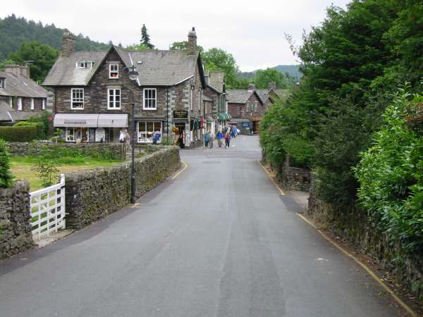 Easedale Road back into the centre of Grasmere