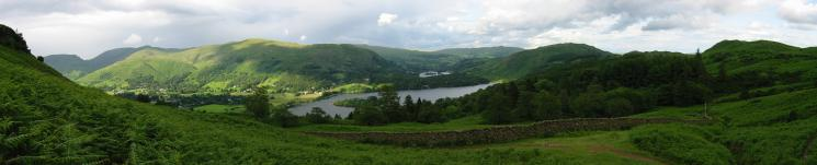 Panorama of the eastern fells, Grasmere, Rydal Water and Loughrigg Fell