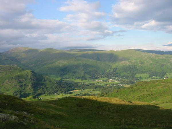 Grasmere village from the ridge