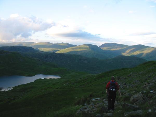 Descending to Easedale Tarn