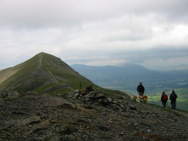 Leaving Grisedale Pike's subsidiary top for the main top