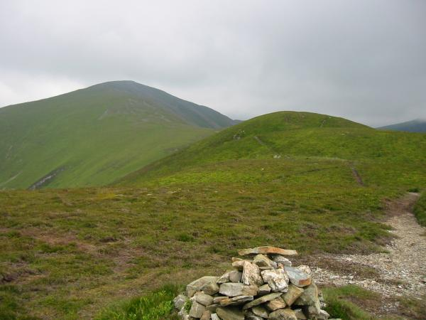 Looking back up to Grisedale Pike from Hobcarton End