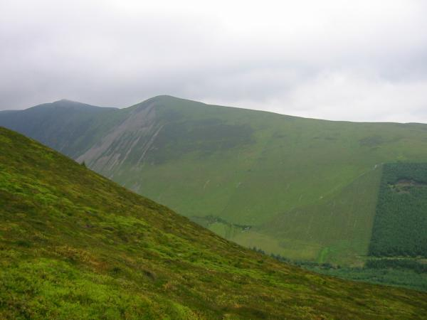 Hopegill Head and Ladyside Pike seen from the descent off Hobcarton End