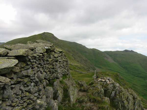 High Pike and Little Hart Crag from Low Pike summit