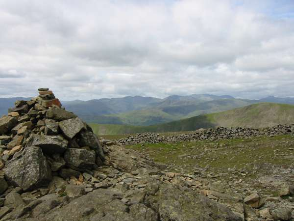 Westwards to the high fells from Dove Crag summit