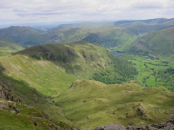 The Far Eastern Fells, Hartsop above How, Brothers Water and Dovedale from Dove Crag