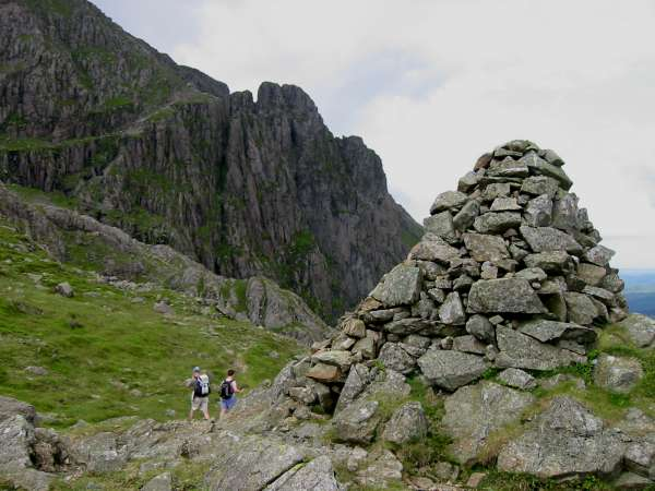 The Shamrock Traverse and Pillar Rock from Robinson's Cairn