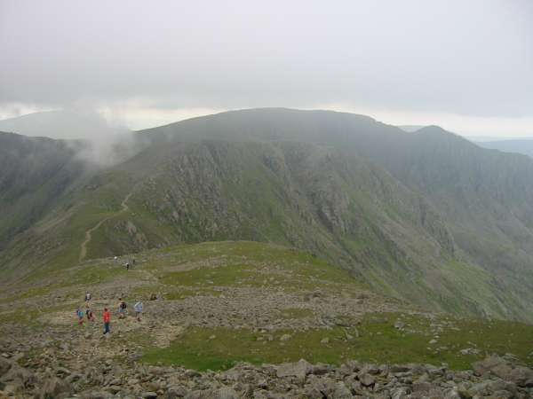 Leaving Pillar for Black Crag with Scoat Fell and Steeple ahead
