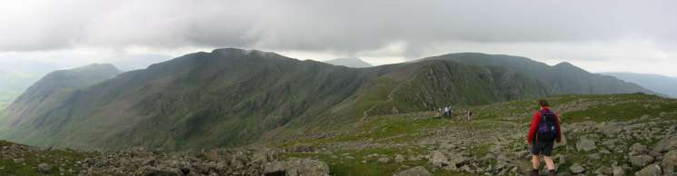 Panorama from the descent to Wind Gap from Pillar