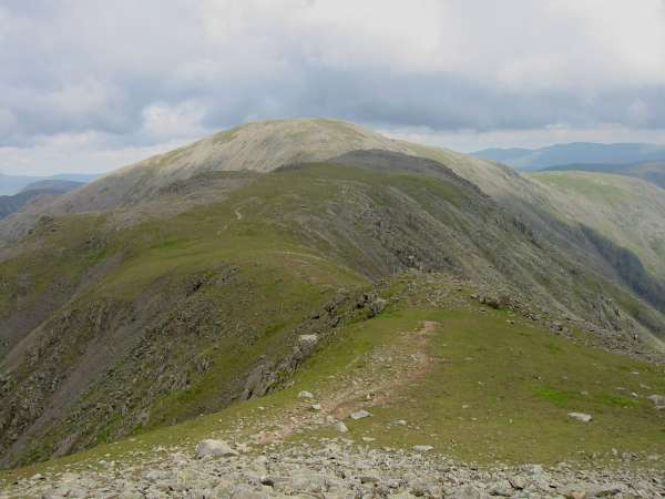 Looking back over Black Crag to Pillar from the ascent up Scoat Fell