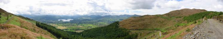 Southerly panorama from near the col between Dodd and Carl Side