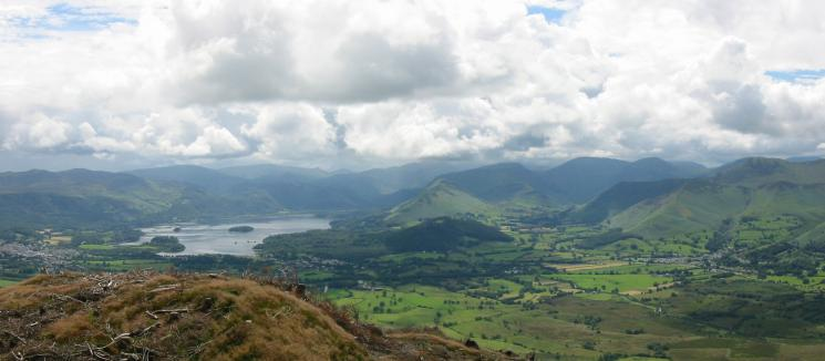 Derwent Water and Newlands valley from the summit