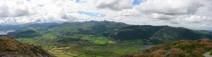 A panorama of the northwestern fells from the summit