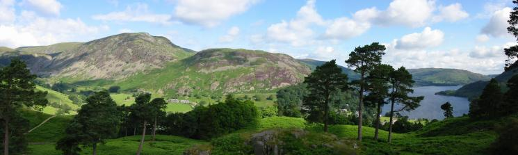 Northerly panorama from Keldas: Sheffield Pike, Glenridding Dodd and Ullswater