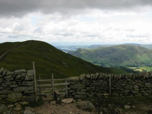 Hole-in-the-Wall looking to Birkhouse Moor and Place Fell