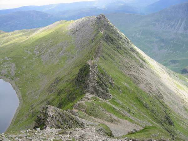 Looking back down Striding Edge
