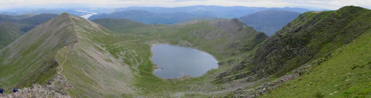 Swirral Edge, Red Tarn and Striding Edge from the top of Swirral Edge