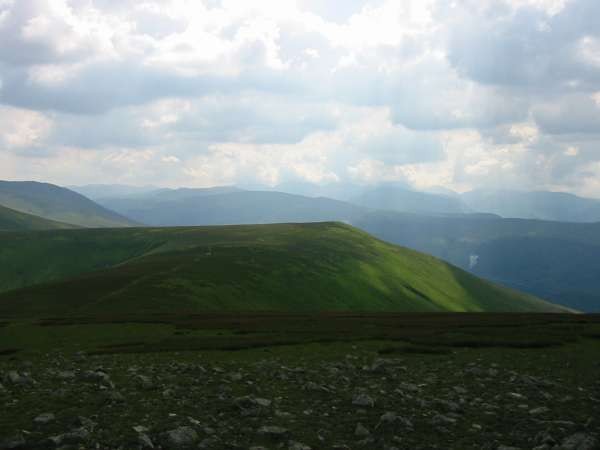 Looking down on Watson's Dodd from Great Dodd