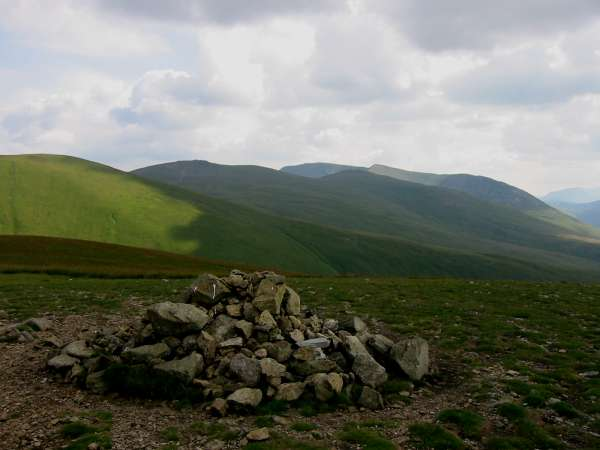 The Helvellyn Ridge from Watson's Dodd summit