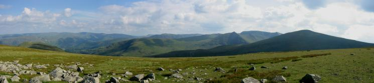 Southerly panorama from White Stones