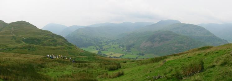 The orienteering finish at Boredale Hause