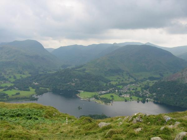 Looking across to Saint Sunday Crag and the Helvellyn range from Place Fell