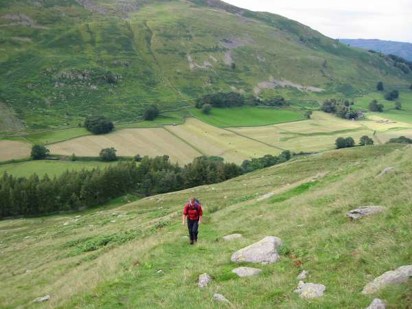 On the zig-zag ascent out of Grisedale